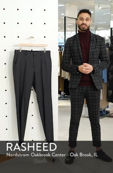 Giro Flat Front Slim Fit Solid Wool Trousers, sales video thumbnail