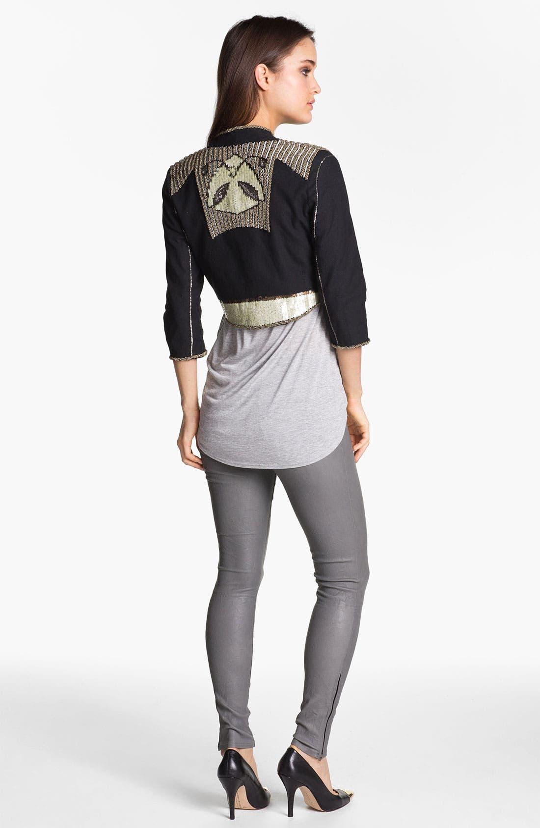 ,                             '8001' Lambskin Leather Pants,                             Alternate thumbnail 42, color,                             022