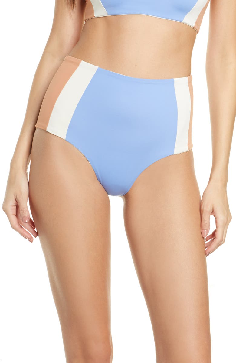 L SPACE Portia Girl High Waist Bikini Bottoms, Main, color, 400