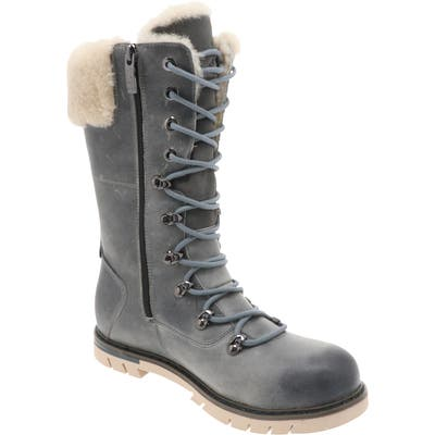 Royal Canadian Sherbrooke Genuine Shearling Cuff Waterproof Boot- Grey