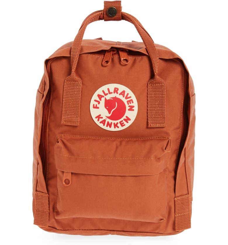 FJÄLLRÄVEN 'Mini Kånken' Water Resistant Backpack, Main, color, BRICK