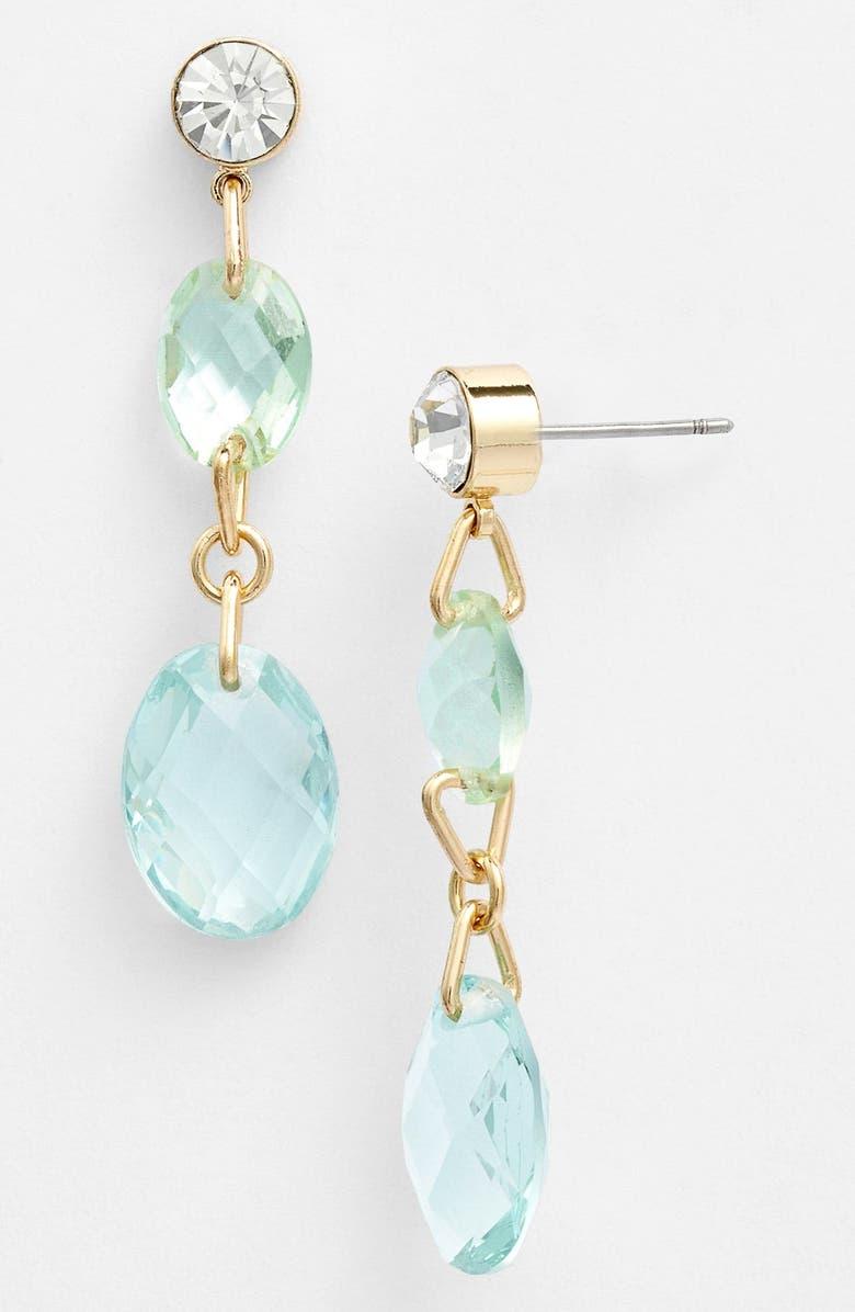 ANNE KLEIN Linear Earrings, Main, color, 400