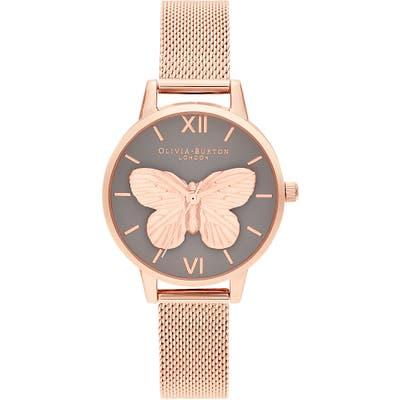 Olivia Burton 3D Butterfly Bracelet Watch, 30Mm