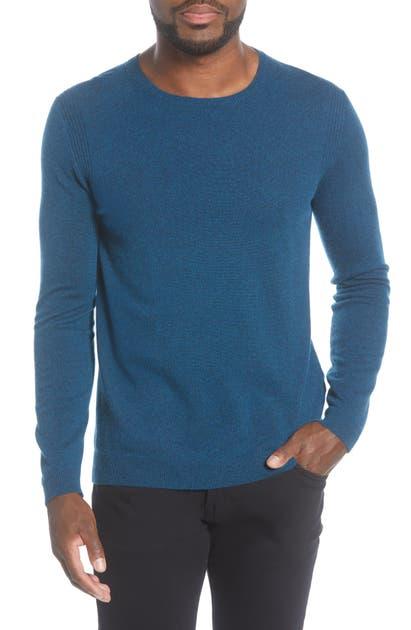 John Varvatos Slim Fit Crewneck Cashmere Sweater In Turquoise