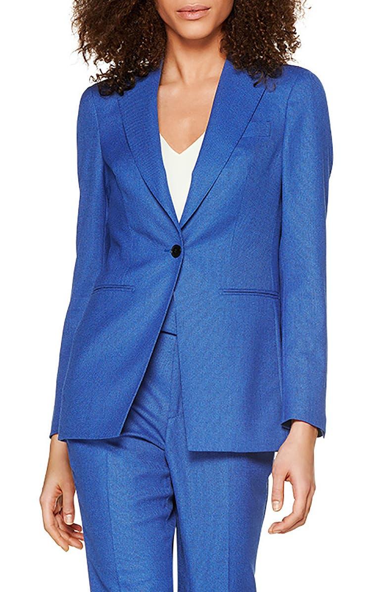 SUISTUDIO Cameron Slim Fit Single Breasted Jacket, Main, color, BLUE