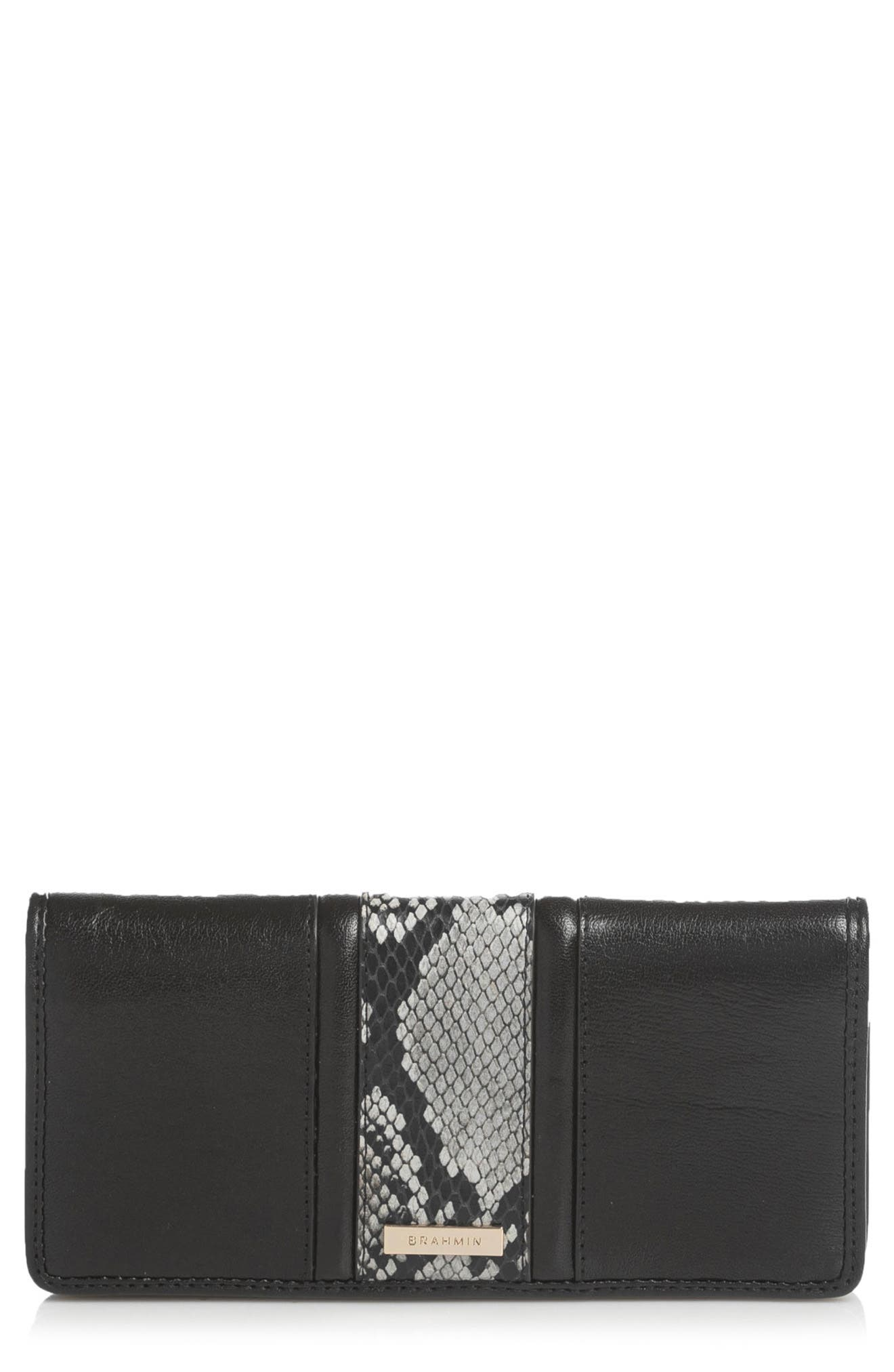 Ady Snake Embossed Leather Wallet