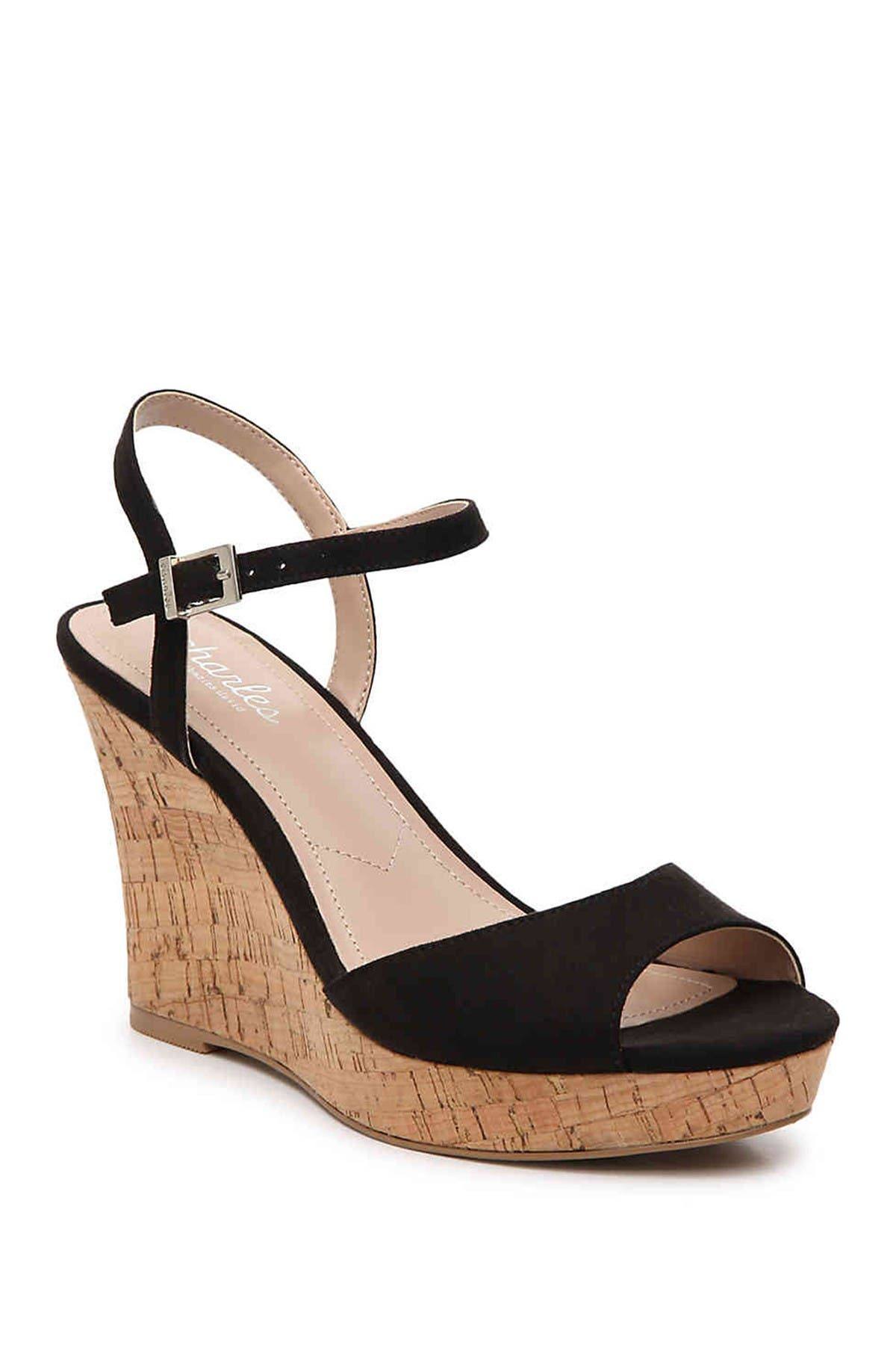 Image of Charles By Charles David Lambert Cork Wedge Sandal