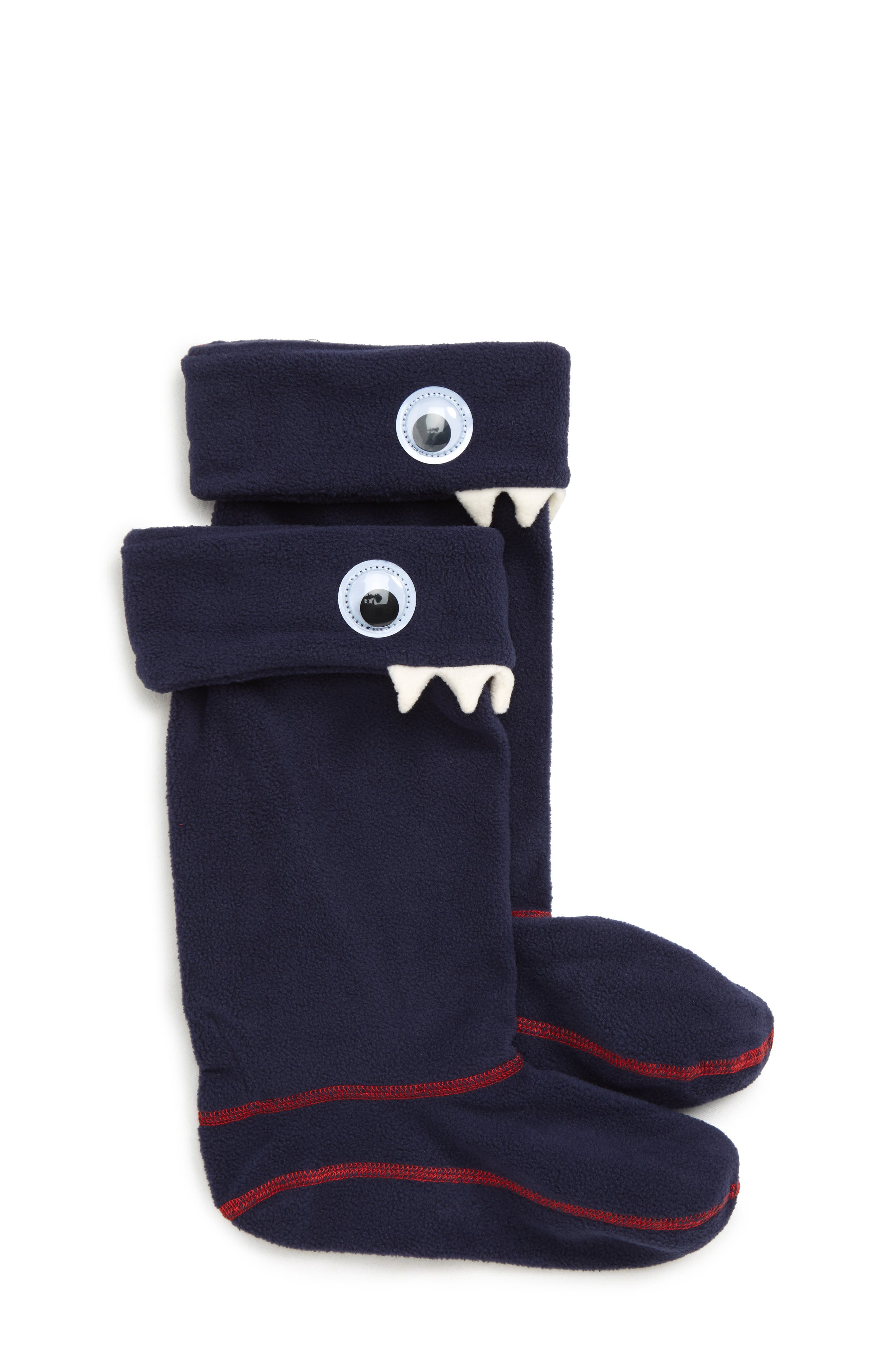 Smile Rain Boot Socks, Main, color, FRENCH NAVY
