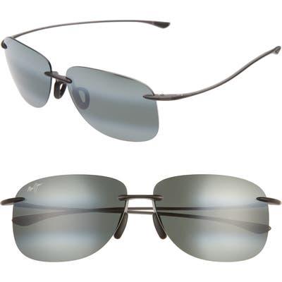 Maui Jim Hikina 62Mm Polarizedplus2 Rimless Sunglasses - Grey/ Matte Grey