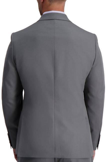 Image of Louis Raphael Skinny Fit Stretch Heather Gabardine Solid Jacket