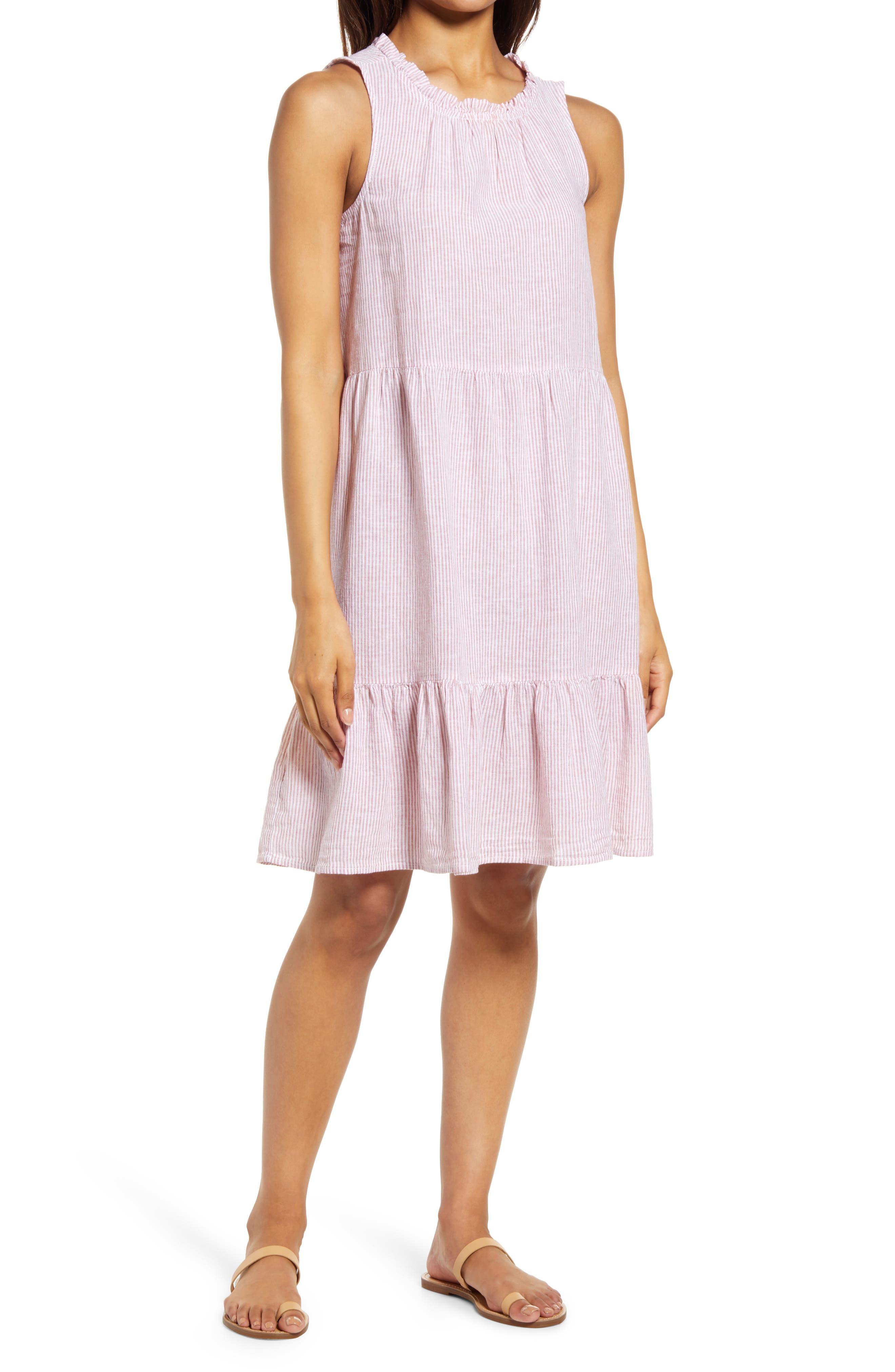 Saison Sleeveless Linen Blend Dress