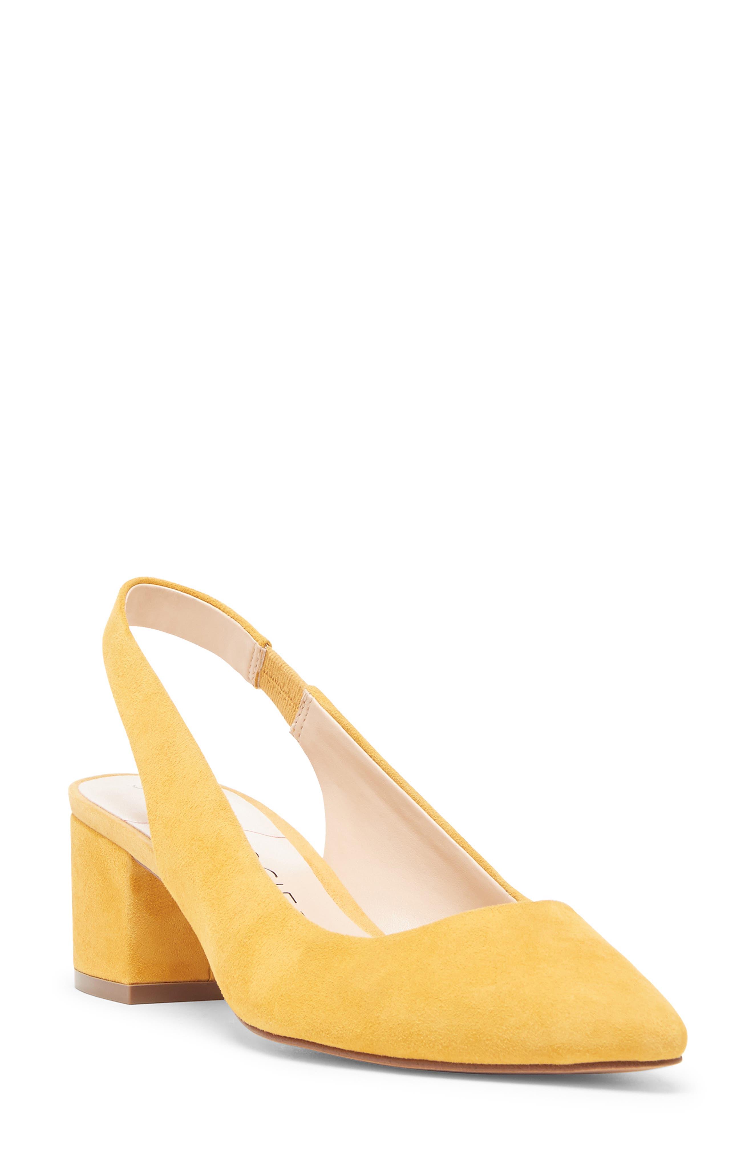 Sole Society Keilinah Slingback Pointy Toe Pump- Yellow