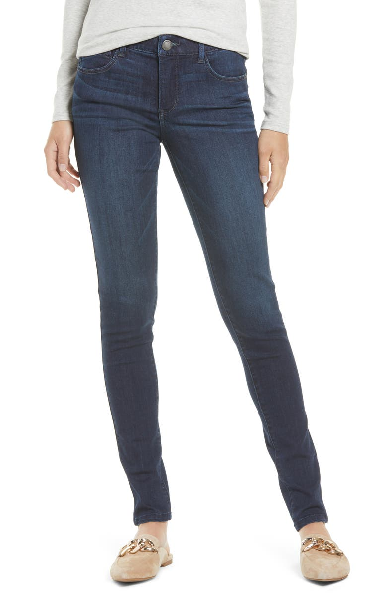 WIT & WISDOM Ab-solution Skinny Ankle Jeans, Main, color, DARK NAVY