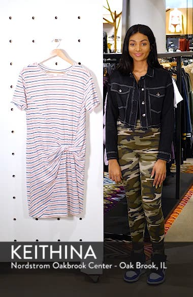 Knot Front T-Shirt Dress, sales video thumbnail