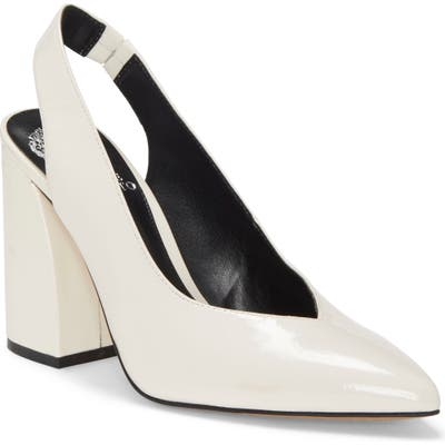 Vince Camuto Almista Pointy Toe Slingback Pump- White