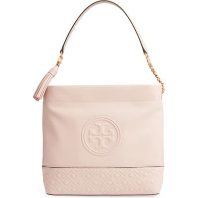 Tory Burch Fleming Leather Hobo - Pink
