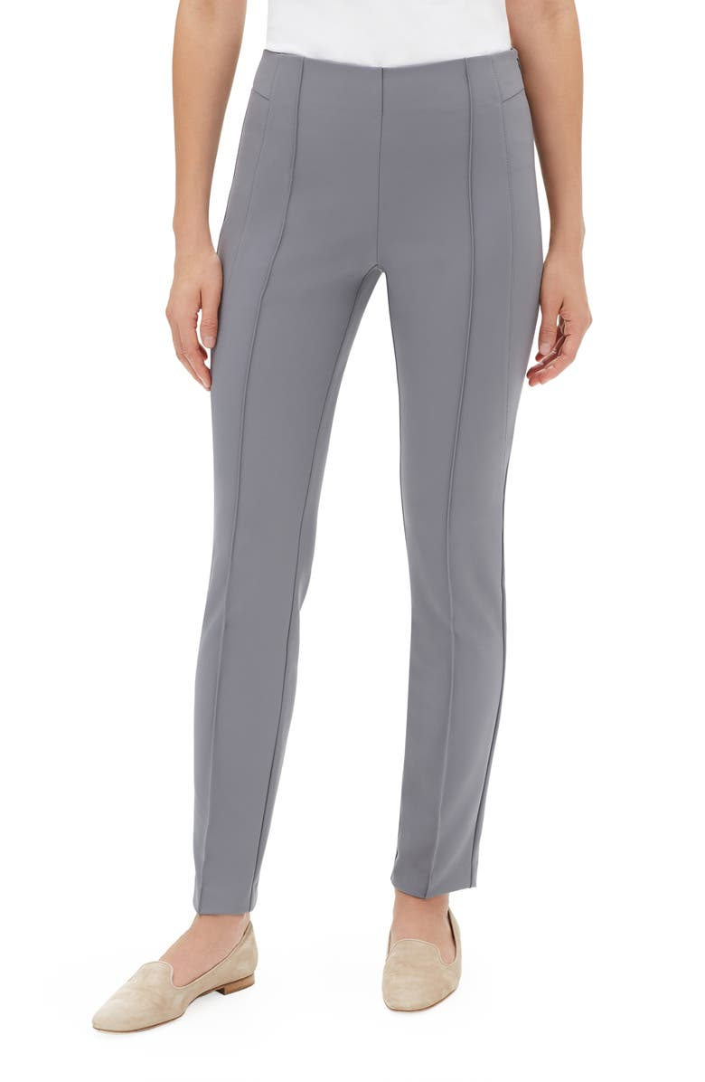 LAFAYETTE 148 NEW YORK 'Gramercy' Acclaimed Stretch Pants, Main, color, CINDER