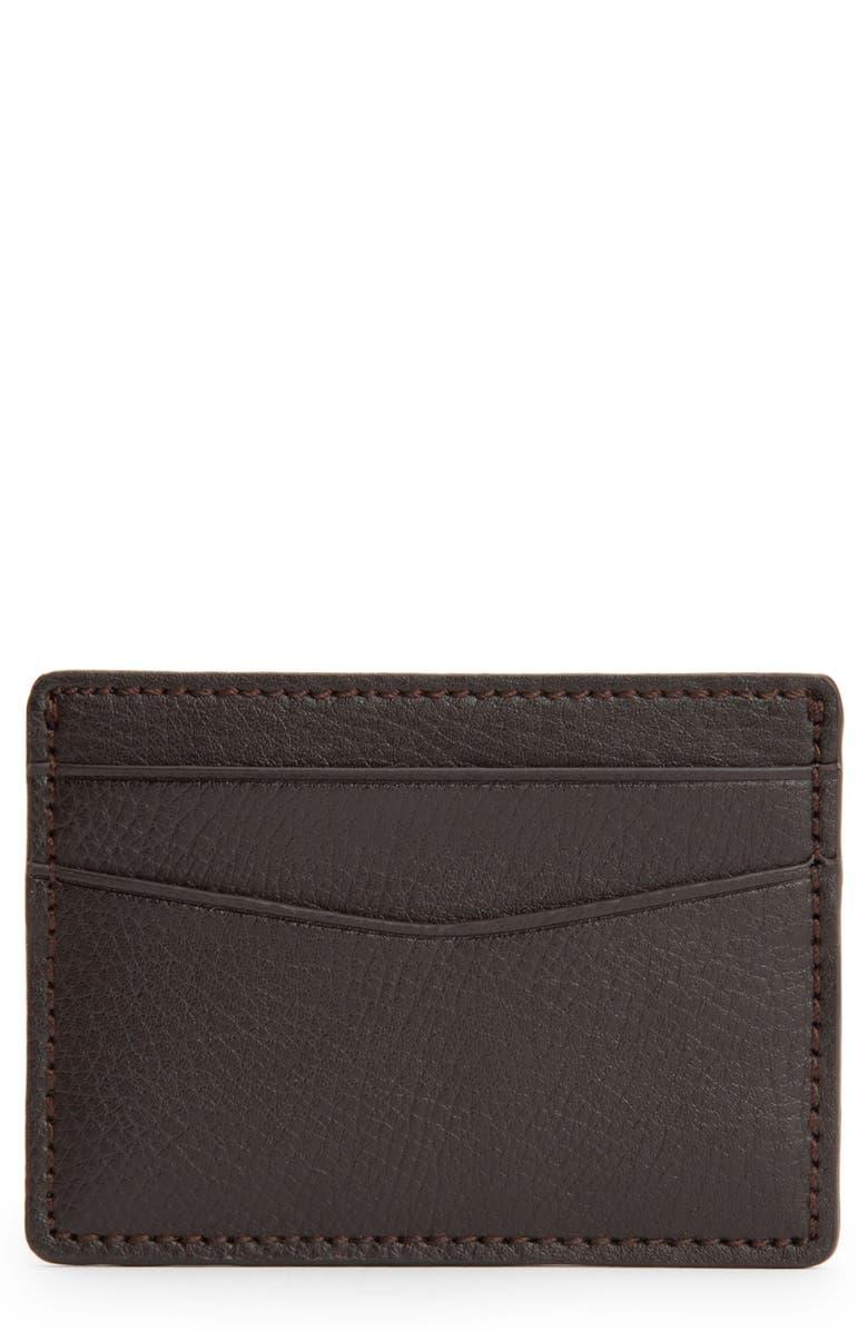 WOLF Blake Card Case, Main, color, BROWN