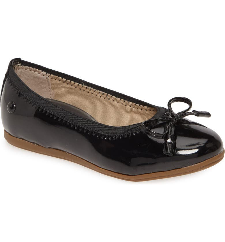 HUSH PUPPIES<SUP>®</SUP> Josie Flat, Main, color, BLACK
