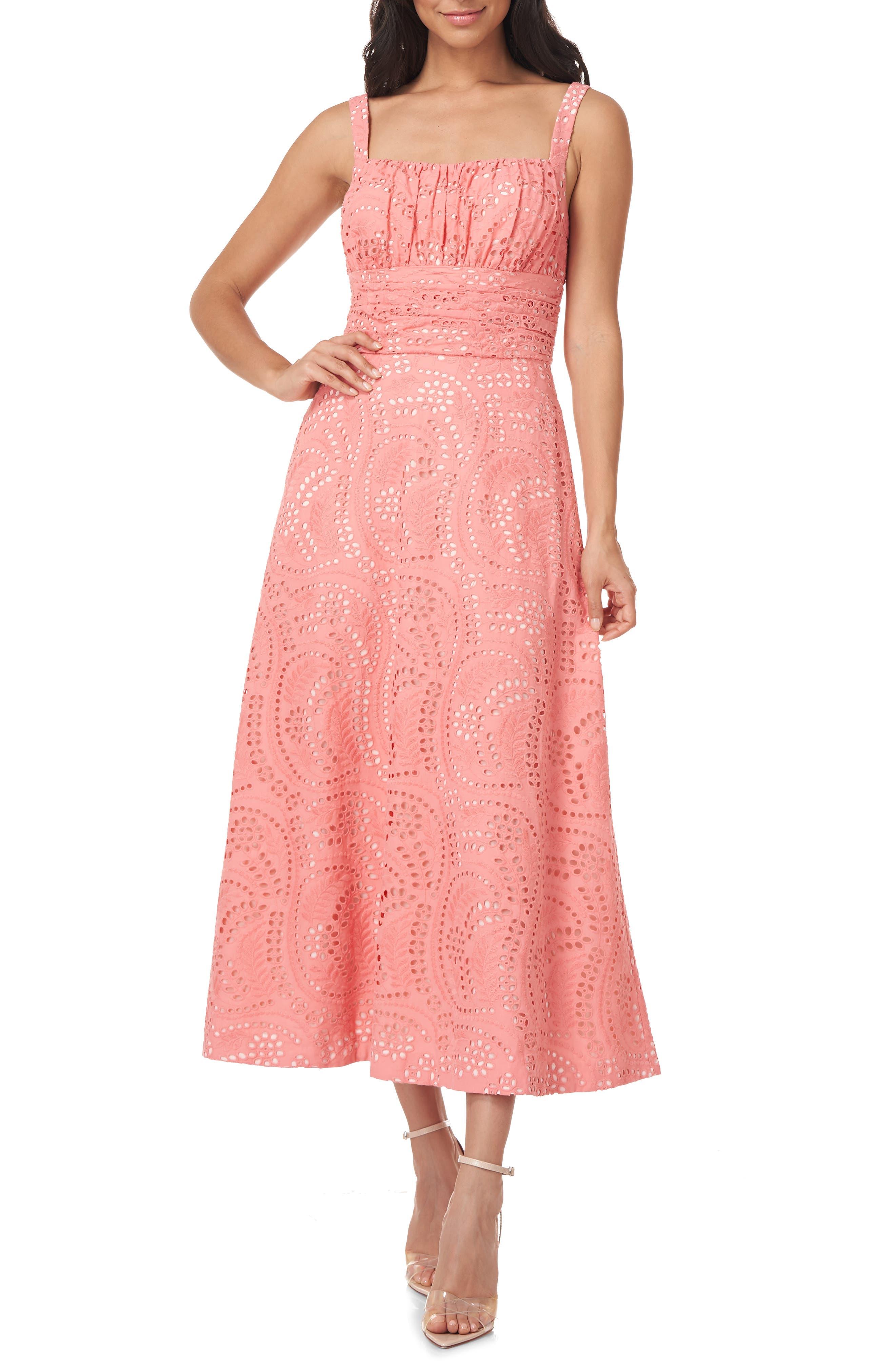 Coty Cotton Eyelet A-Line Dress