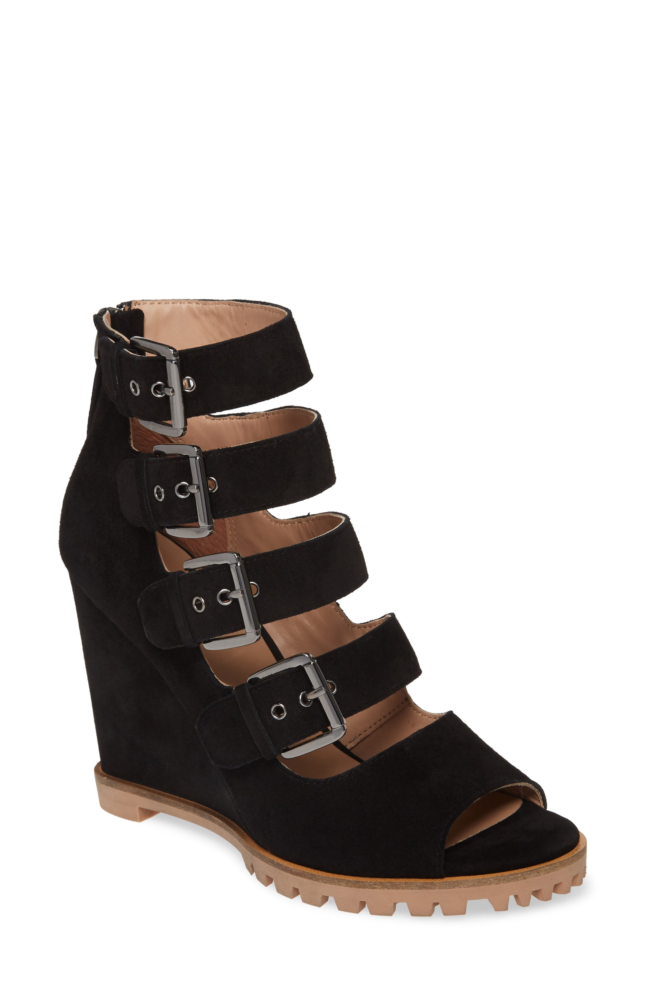 Linea Paolo Wisteria Buckle Wedge Sandal (Women)