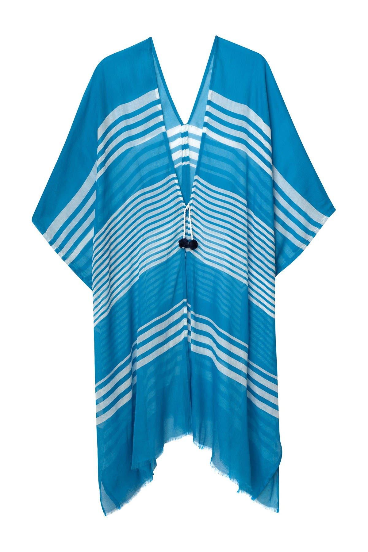 Image of Hat Attack Striped Beach Kimono