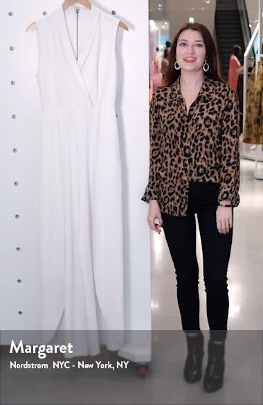 Bebe Shawl Collar Jumpsuit, sales video thumbnail