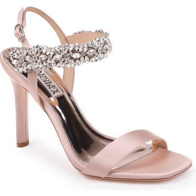 Badgley Mischka Lilly Embellished Sandal, Pink