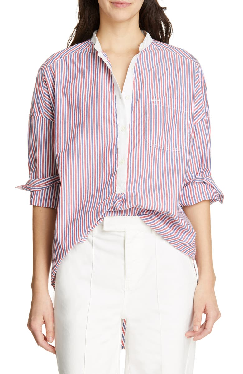 ALEX MILL Multistripe Shirttail Tunic, Main, color, 600