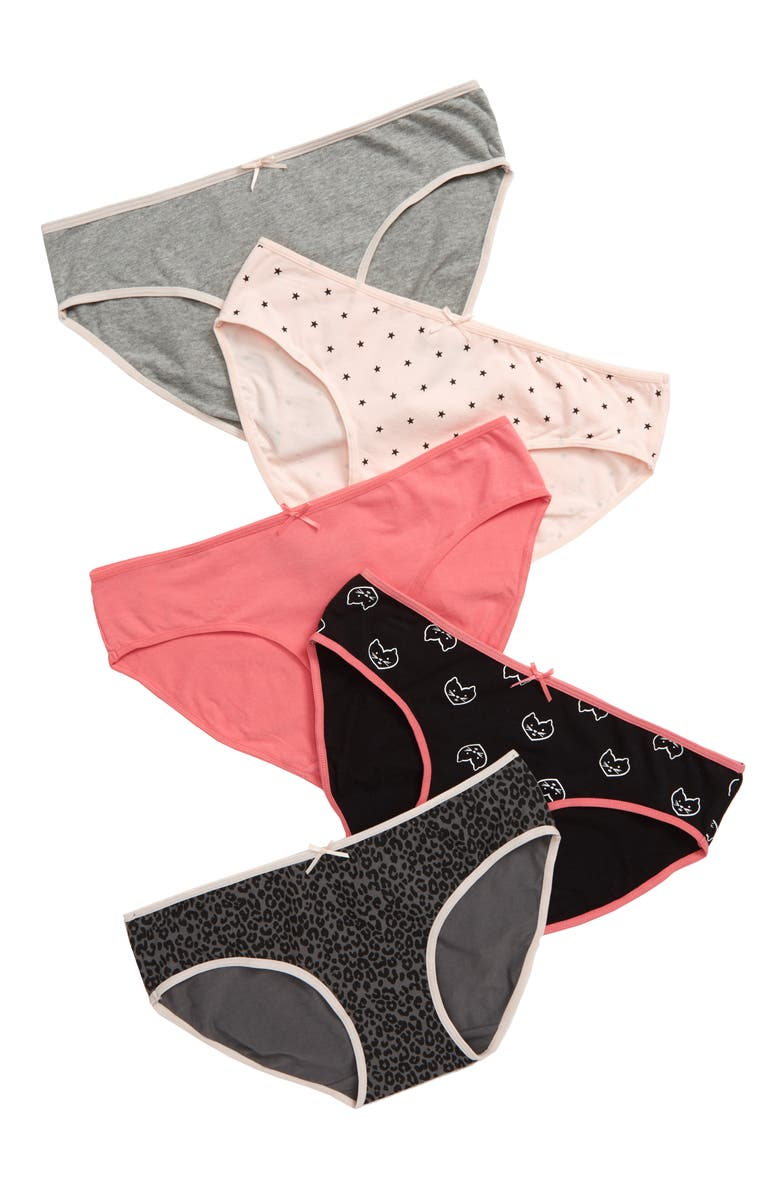 TUCKER + TATE 5-Pack Hipster Briefs, Main, color, KITTY PACK