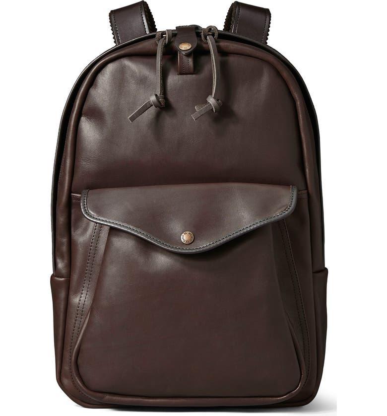 FILSON Weatherproof Leather Backpack, Main, color, 206