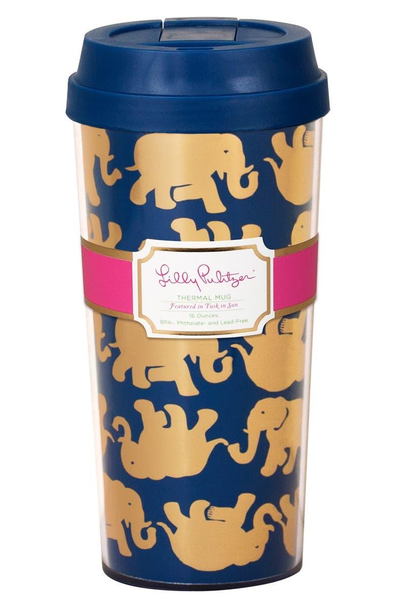 LILLY PULITZER<SUP>®</SUP> Thermal Mug, Main, color, 400