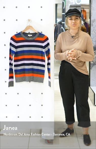 Metallic Stripe Sweater, sales video thumbnail