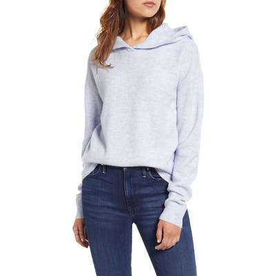 Vineyard Vines Plush Hooded Wool Blend Sweater, Blue