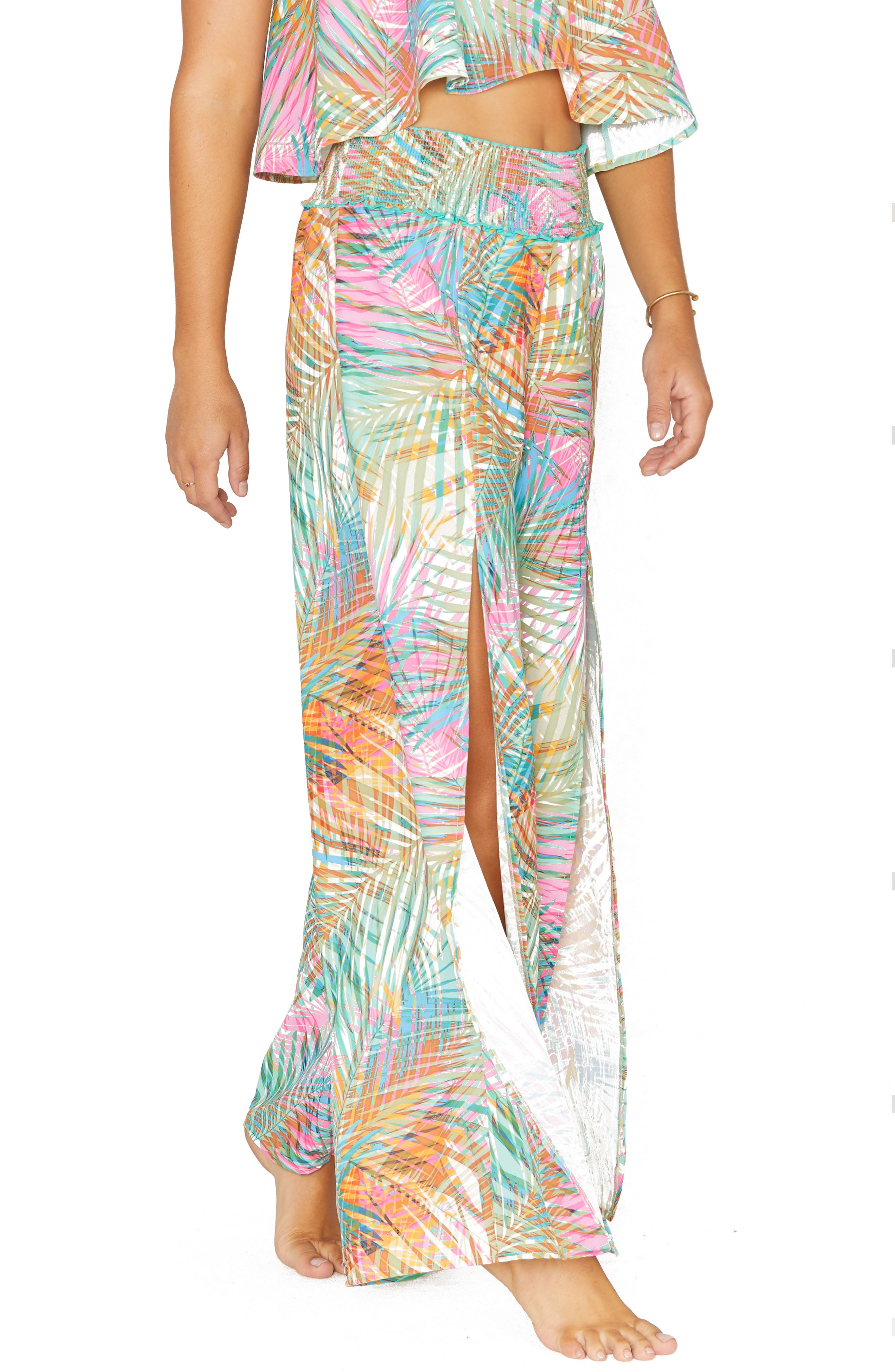 Front Slit Cover-Up Pants
