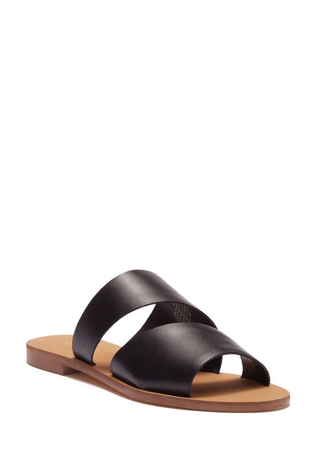 Image of Nine West Em Down Leather Slide Sandal