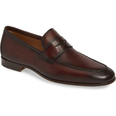 Magnanni Reed Penny Loafer, Brown