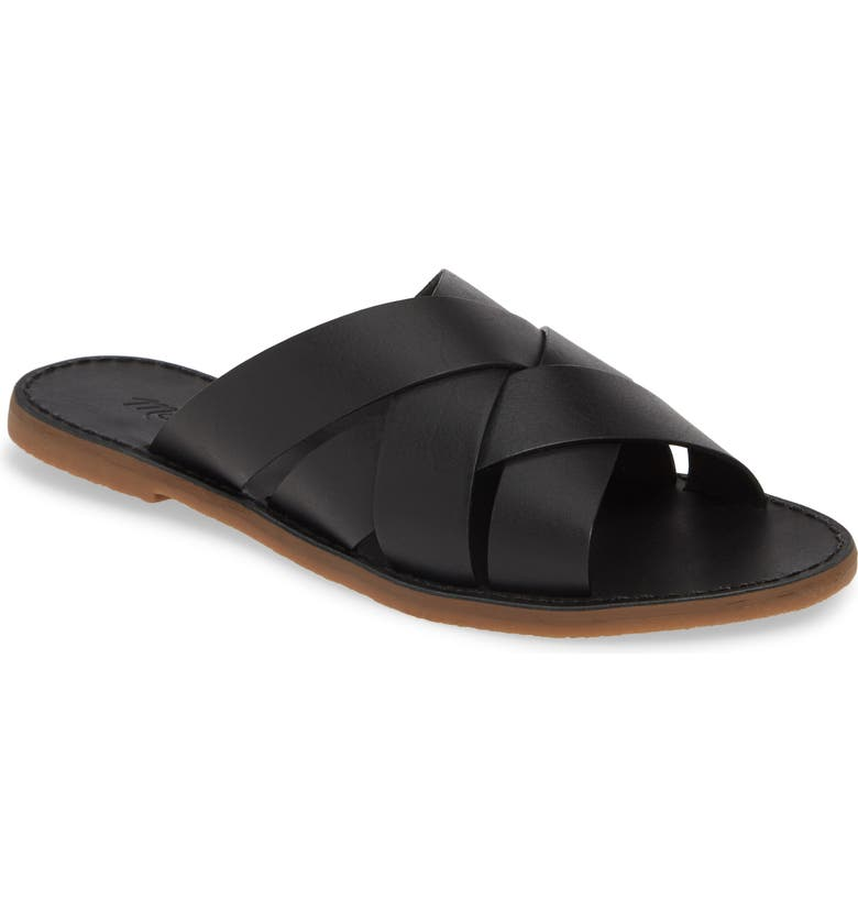 MADEWELL The Boardwalk Woven Slide Sandal, Main, color, 001
