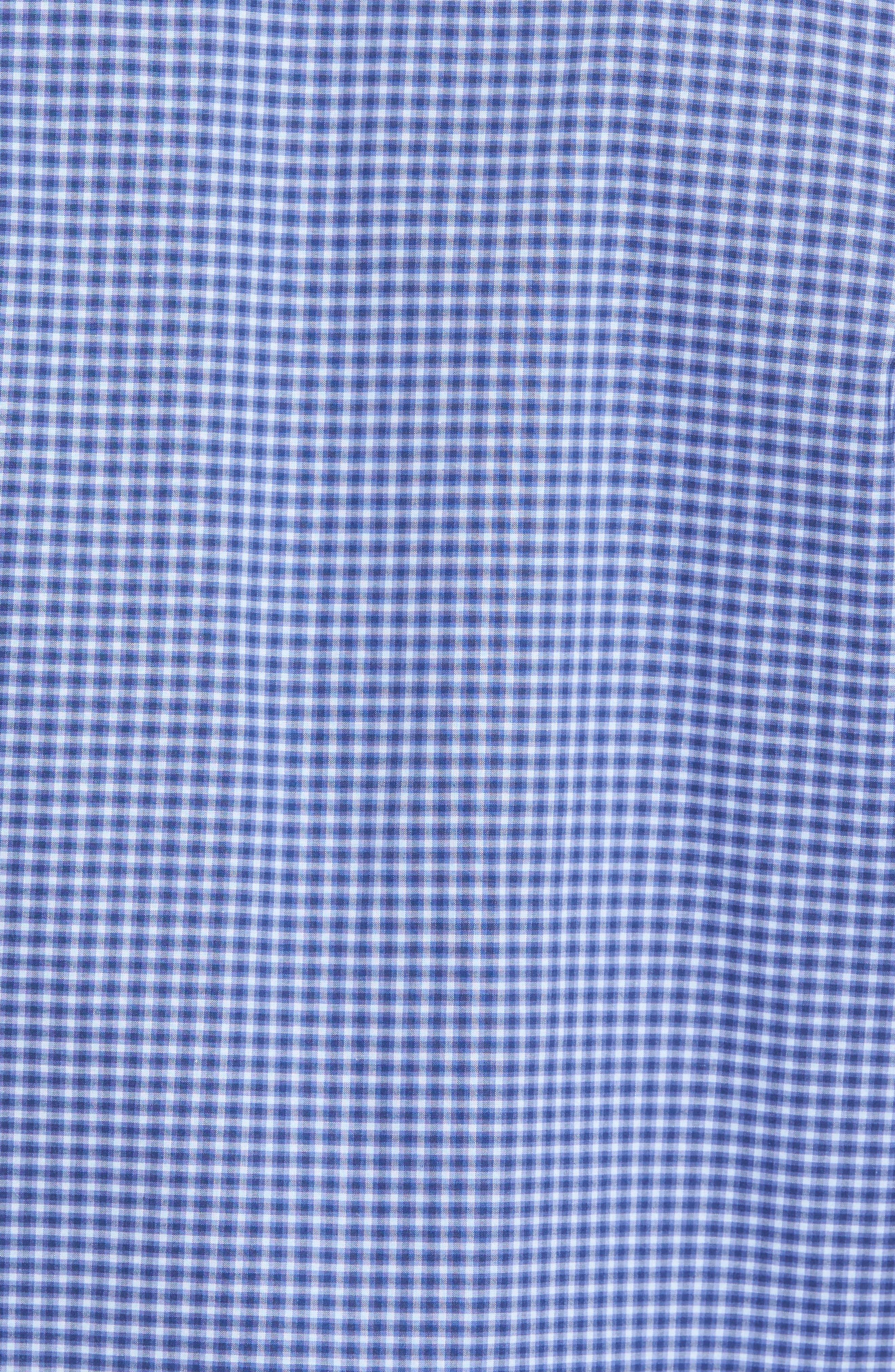,                             Ramon Regular Fit Mini Check Sport Shirt,                             Alternate thumbnail 5, color,                             BLUE