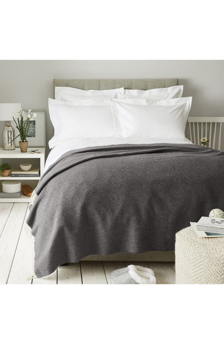THE WHITE COMPANY Pure Cashmere Throw, Main, color, 020