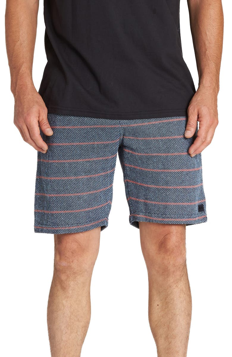 BILLABONG Flecker Ventana Stripe Shorts, Main, color, NAVY
