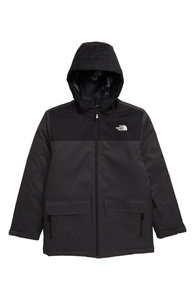 THE NORTH FACE Freedom Waterproof Insulated Snowsports Jacket, Main, color, ASPHALT GREY