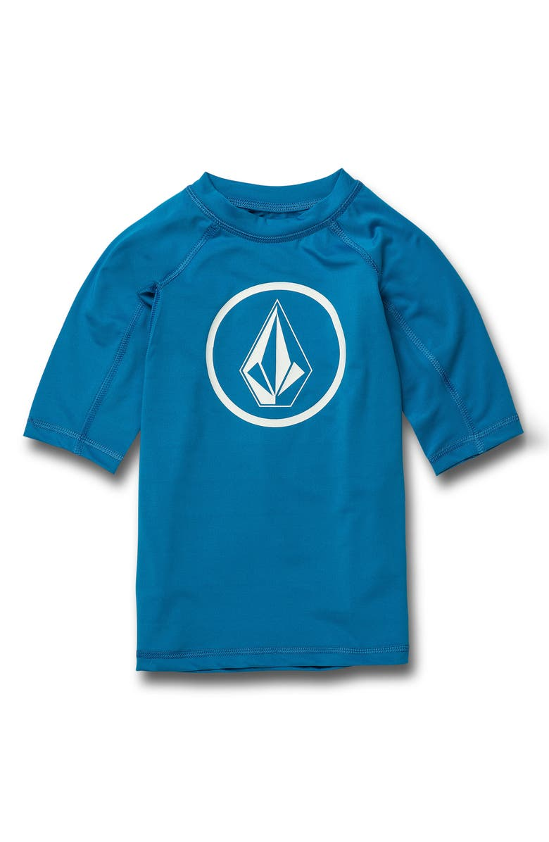 VOLCOM Lido Short Sleeve Rashguard, Main, color, TRUE BLUE