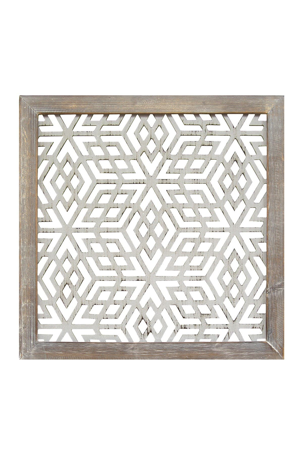Image of Stratton Home Distressed Grey Framed Laser-Cut Wall Decor