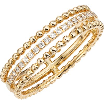Bony Levy Diamond & 18K Gold Bead Stacking Ring (Nordstrom Exclusive)