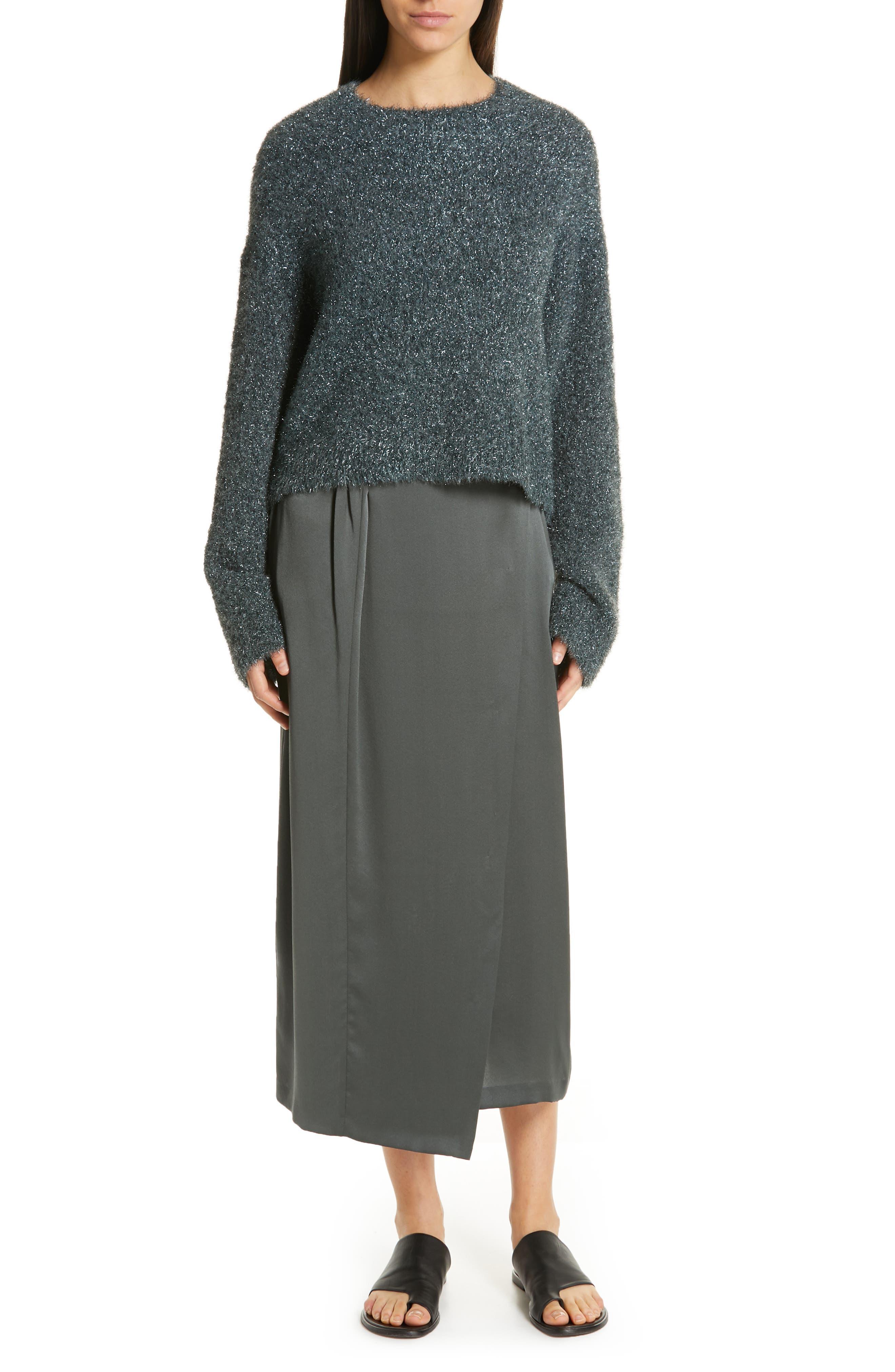,                             Boxy Metallic Knit Sweater,                             Alternate thumbnail 14, color,                             029