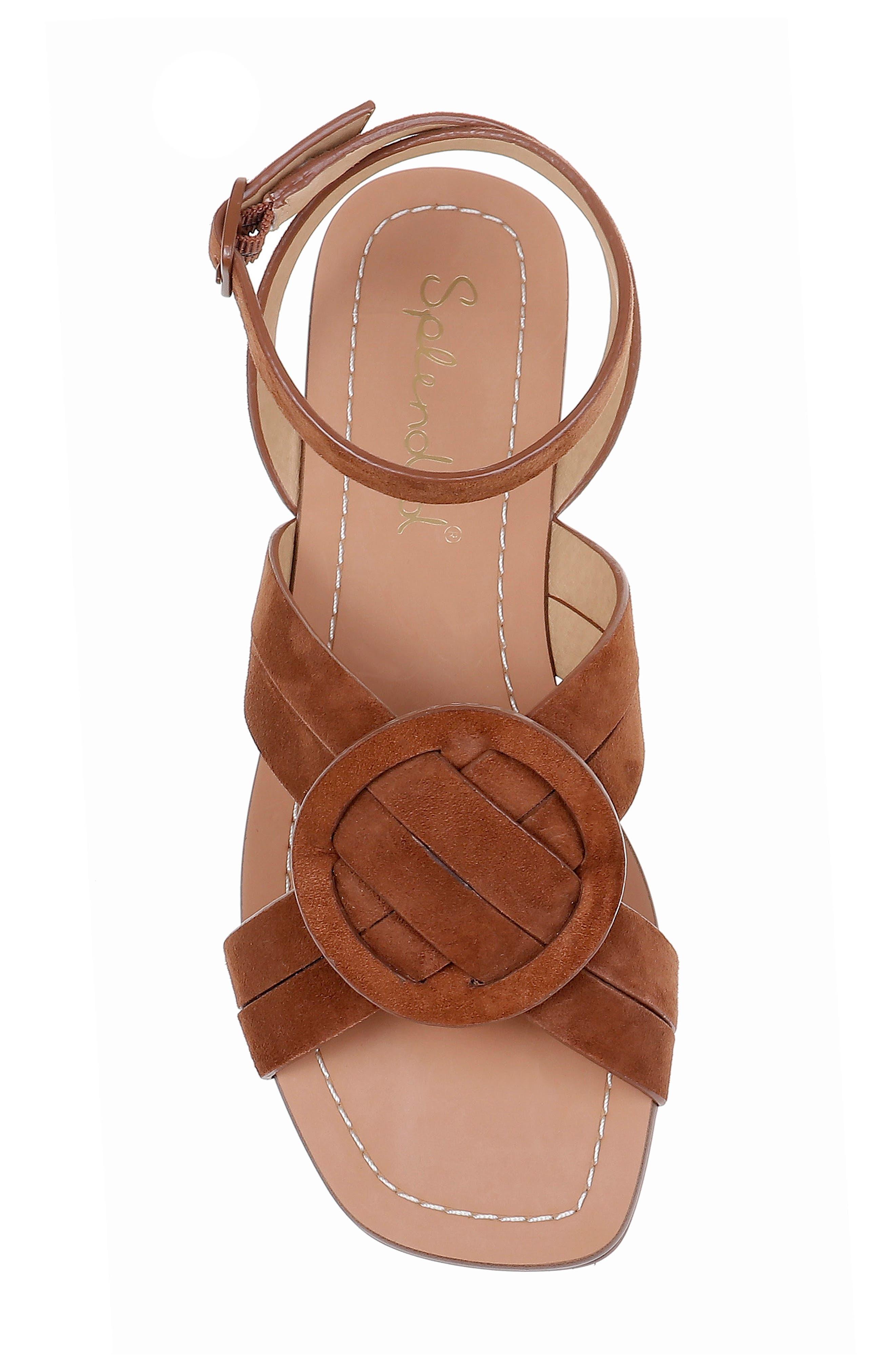 ,                             Talea Ankle Strap Sandal,                             Alternate thumbnail 5, color,                             CHESTNUT SUEDE