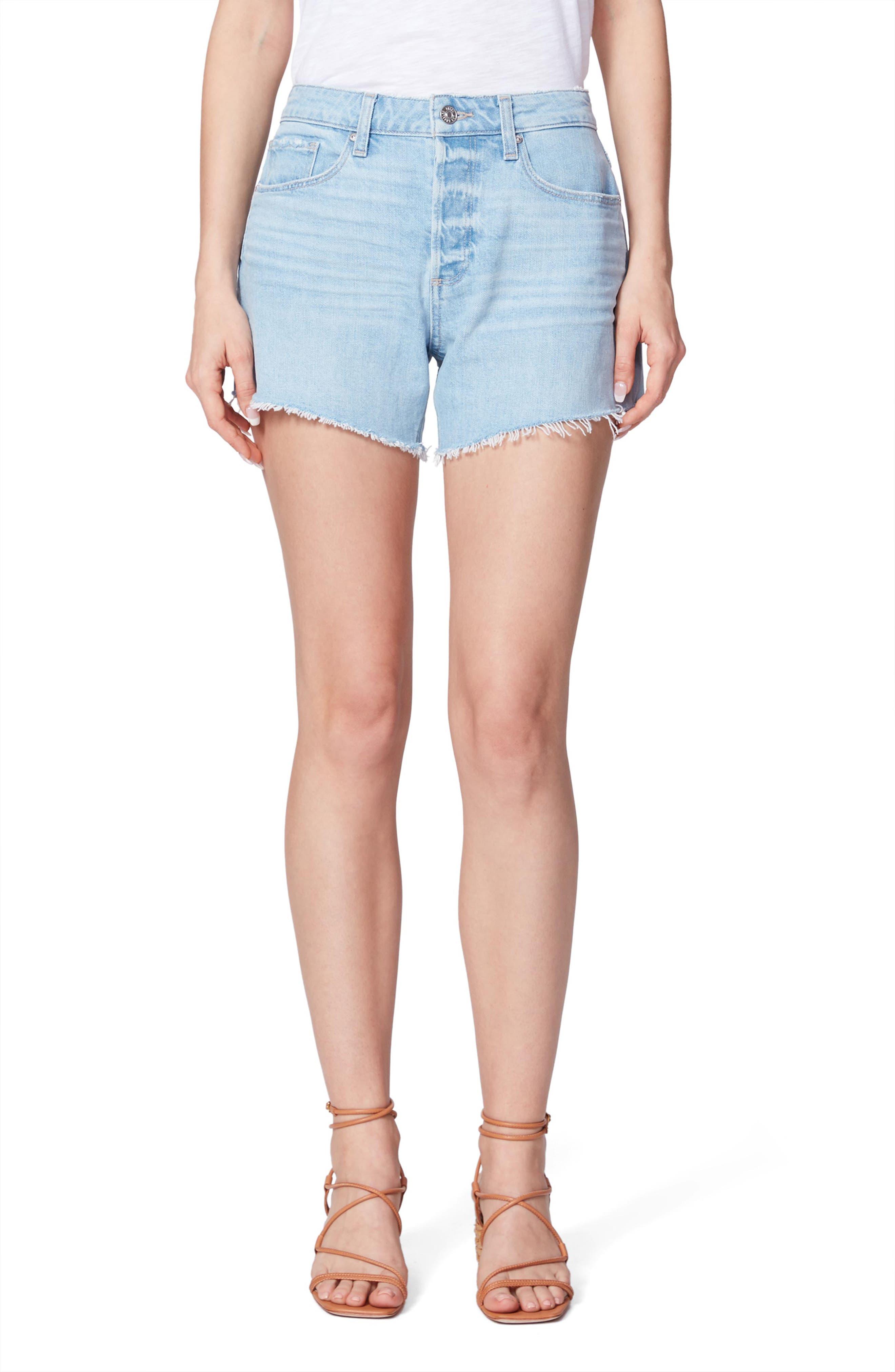 Women's Paige Noella High Waist Cutoff Denim Shorts,  24 - Blue