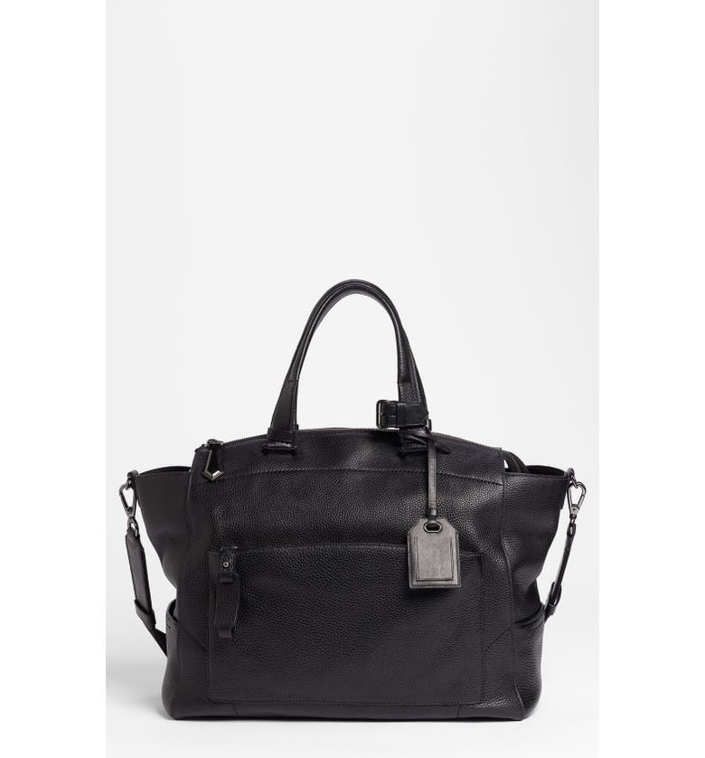 REED KRAKOFF 'Uniform' Leather Tote, Main, color, 001