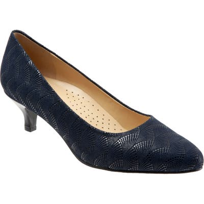 Trotters Kiera Pump, WW - Blue